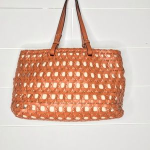 Kate Spade Woodley Delphine Brown Woven Tote
